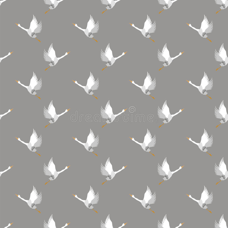Weiße Gans-nahtloses Muster lizenzfreie abbildung