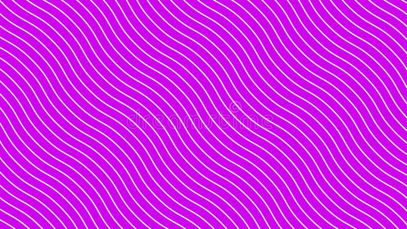 Weiße gekrümmte Linien in der dynamischen Wellenbewegung, rosa Hintergrund Zuk?nftige geometrische diagonale Linien Muster winken lizenzfreie abbildung