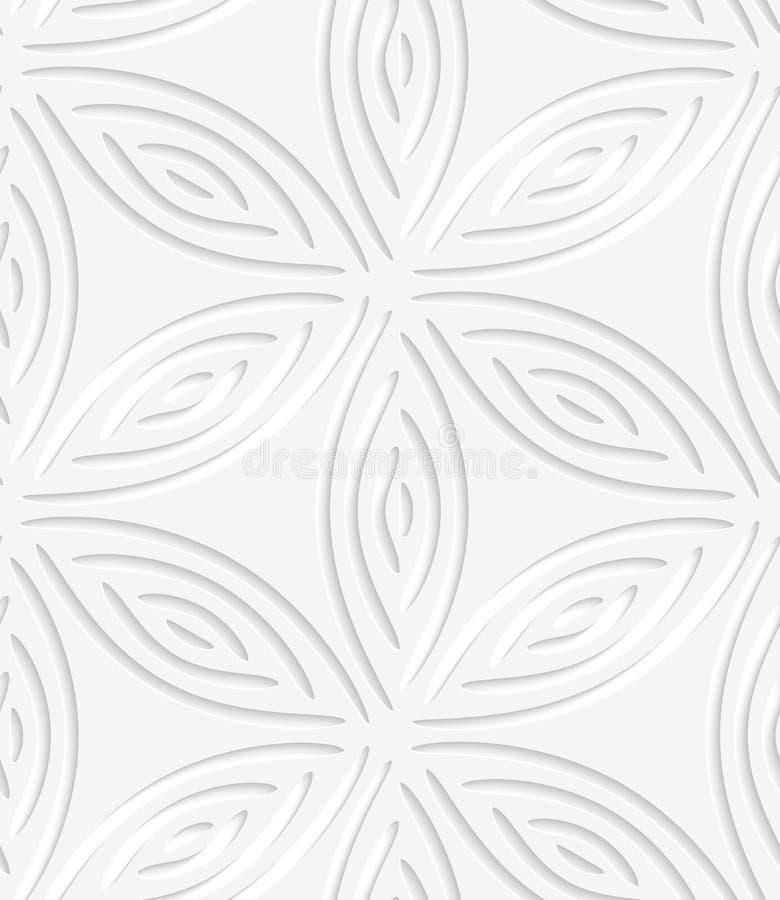Weiße geometrische Blume mögen Formen durchlöchertes nahtloses Muster lizenzfreie abbildung