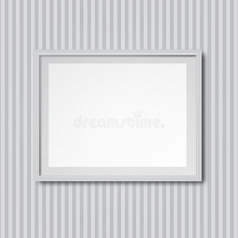 Download Weiße Gestreifte Wand Mit Rahmen Vektor Abbildung   Bild: 62740973