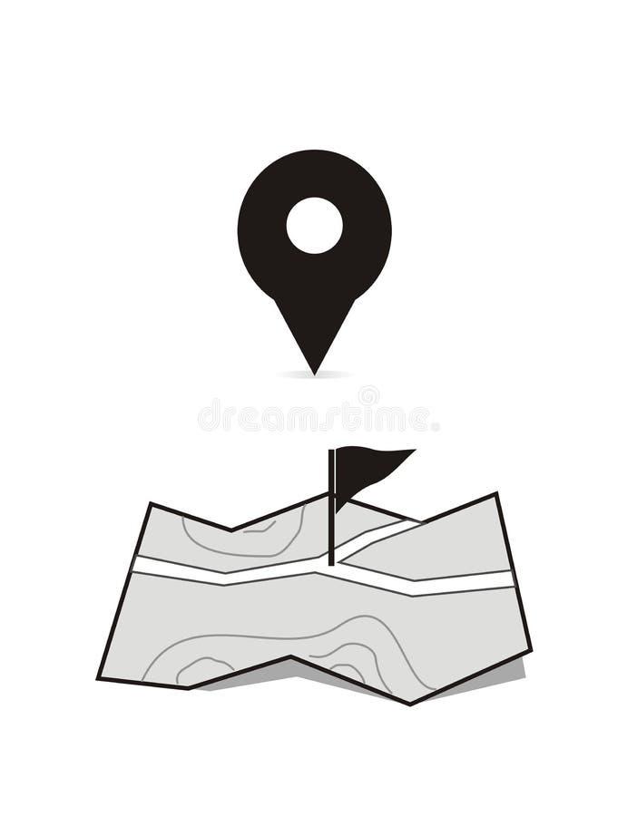 Weiße getrennte Standortmarken stock abbildung
