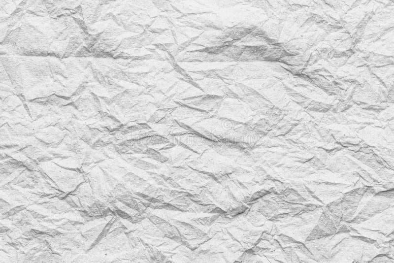 weiße Gewebeoberfläche der Falte oder zerknittert stock abbildung