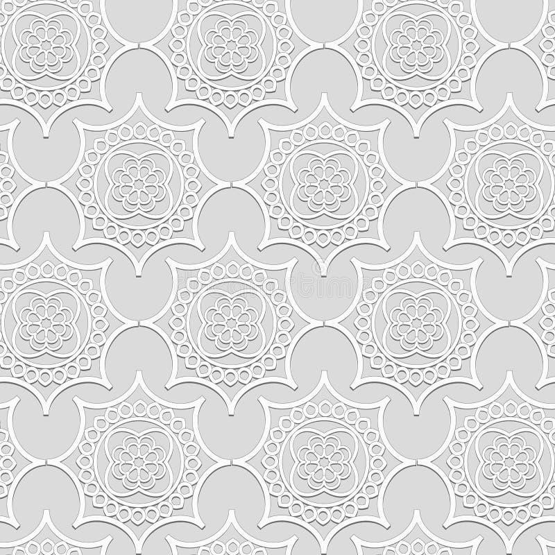 Weiße Gipsformteile des dekorativen Volumens stockbilder