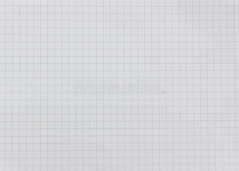 Weiße Gitterpapierbeschaffenheit stockfotos