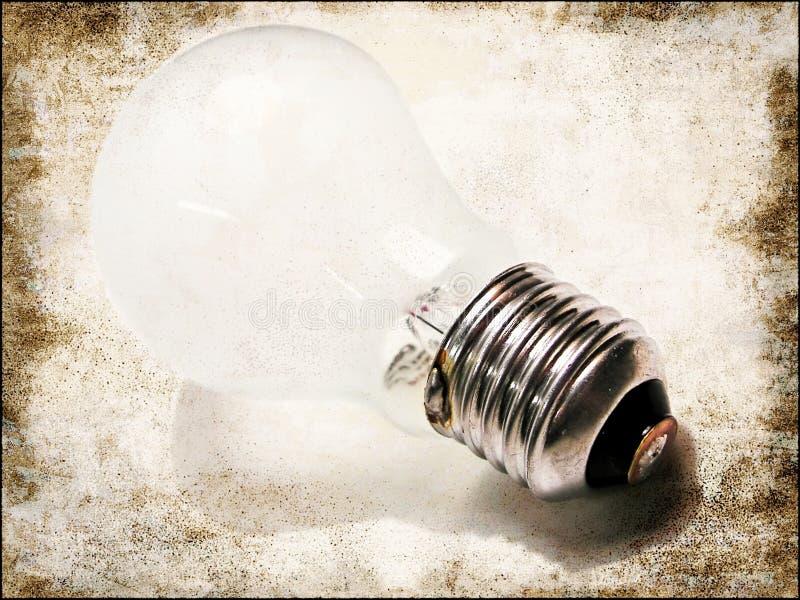 Weiße Glühlampe lizenzfreie stockfotos
