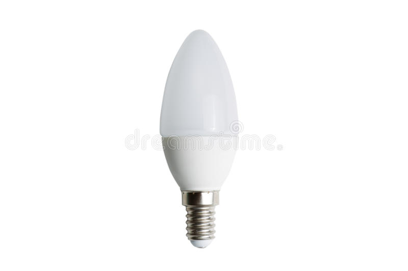 Weiße Glühlampe LED stockfotos
