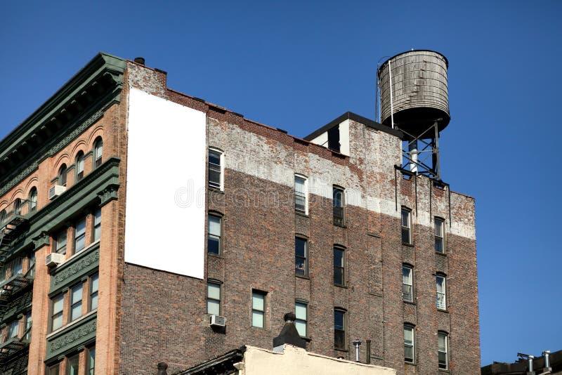 Weiße große Anschlagtafel stockfotografie