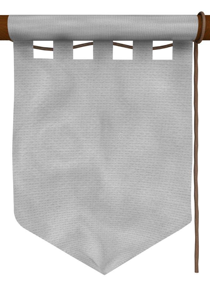 Weiße hängende Fahne, Typ - 2 lizenzfreie abbildung