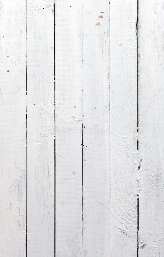Weiße hölzerne Planke stockfoto