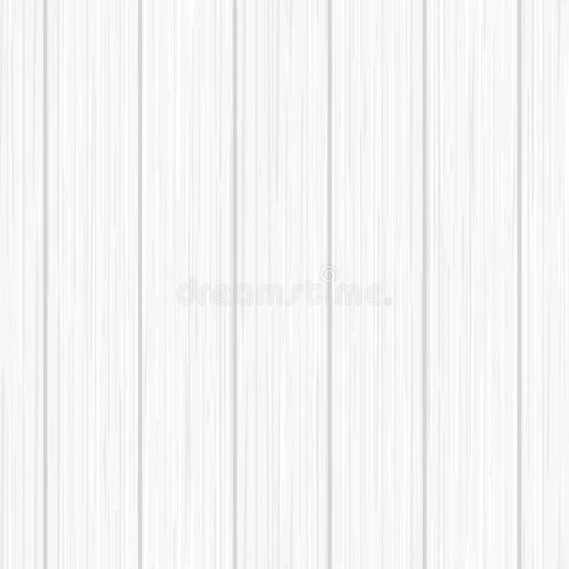 Weiße hölzerne Planken Nahtloses Muster Hölzerne Beschaffenheit vektor abbildung