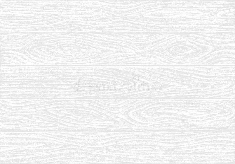 Weiße hölzerne Plankenbeschaffenheit stock abbildung