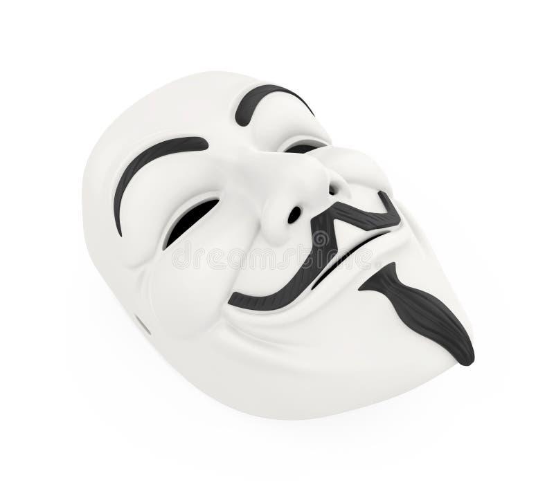 Weiße Hacker-Maske lokalisiert vektor abbildung