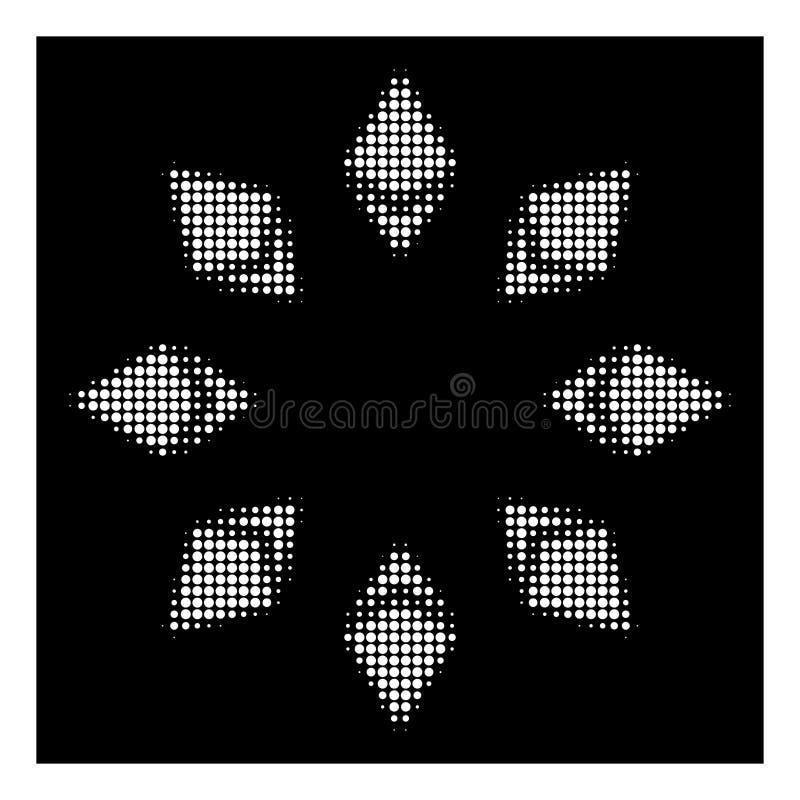 Weiße Halbton-Ethereum-Radialstrahl-Ikone stock abbildung