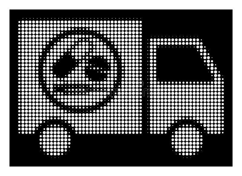 Weiße Halbtondrugstore-LKW-Ikone vektor abbildung