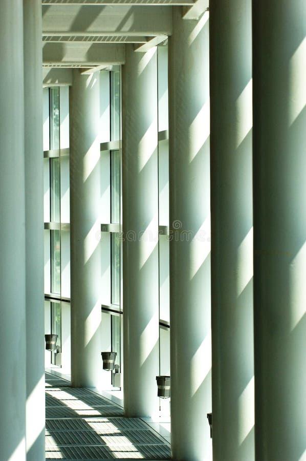 Weiße Halle stockfoto