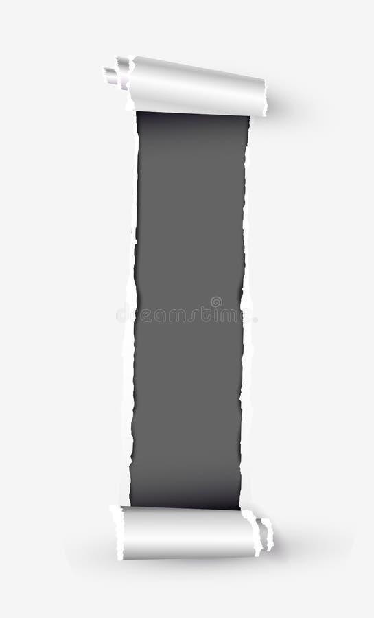 Weiße heftige Papierrolle mit Raum für Text vektor abbildung
