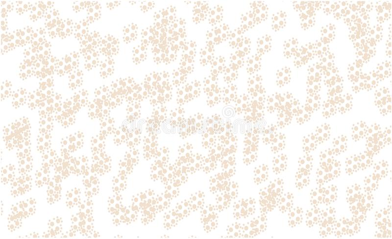 Weiße Hintergrundmustergoldkugeln lizenzfreie abbildung