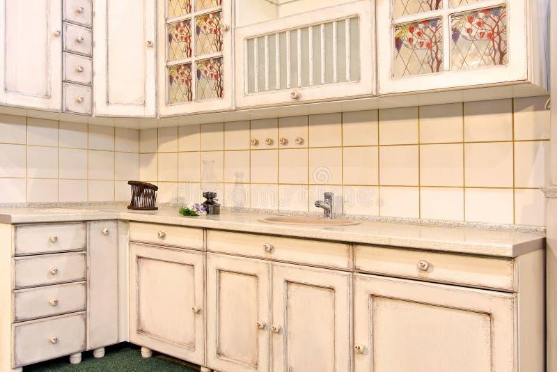 Weiße Küche stockfotos