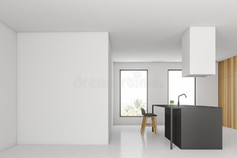 Weiße Küche mit Spott herauf Wand vektor abbildung