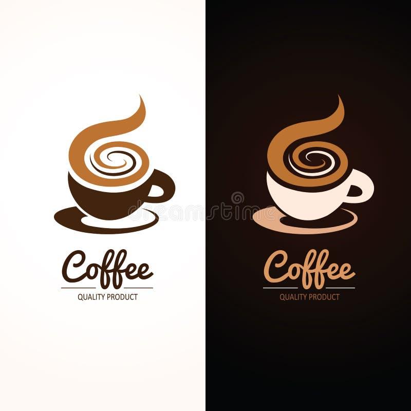 Weiße Kaffeetasse stock abbildung