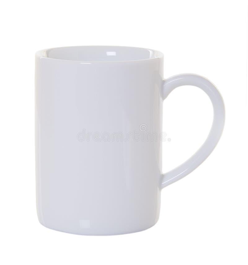 Weiße Kaffeetasse getrennt lizenzfreies stockfoto