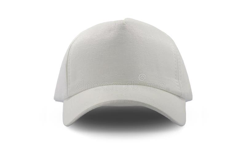 Weiße Kappe der Mode lokalisiert stockfoto