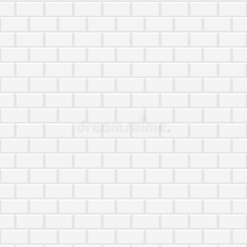 Weiße keramische Backsteinmauer stock abbildung