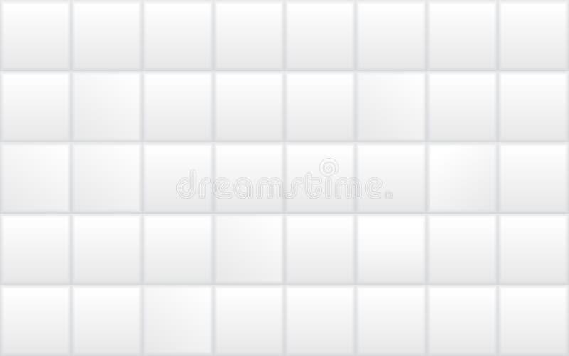 Weiße keramische Badezimmerfliese Nahtlose Bad- oder Küchenwandbeschaffenheit lizenzfreie abbildung