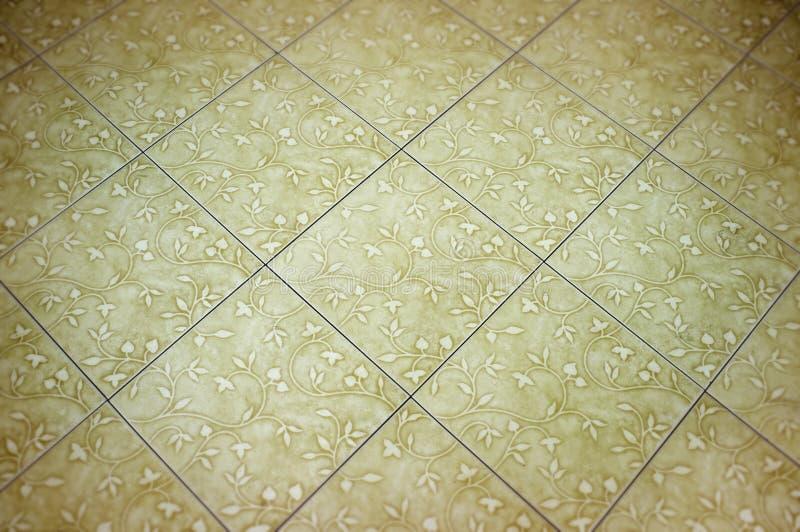 Weiße keramische Bodenfliesen stockbild