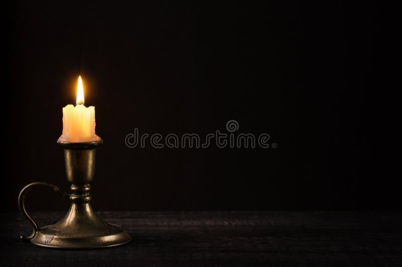 Weiße Kerze stockbild