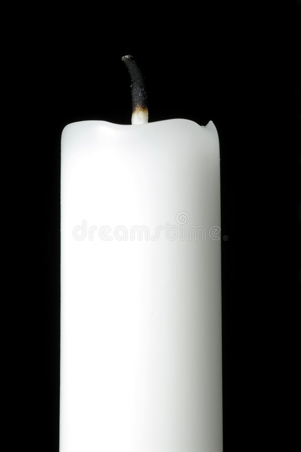 Weiße Kerze stockfotografie