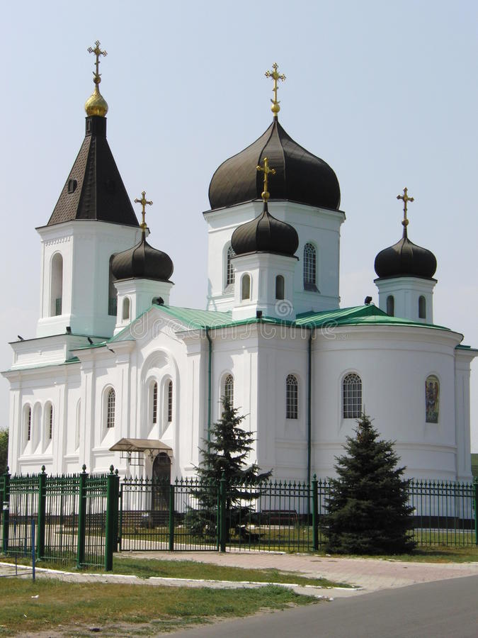 Weiße Kirche lizenzfreies stockbild