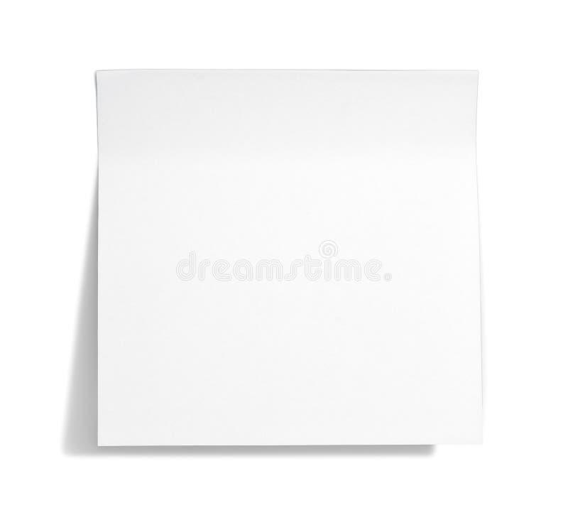 Weiße klebrige Anmerkung lizenzfreie stockbilder