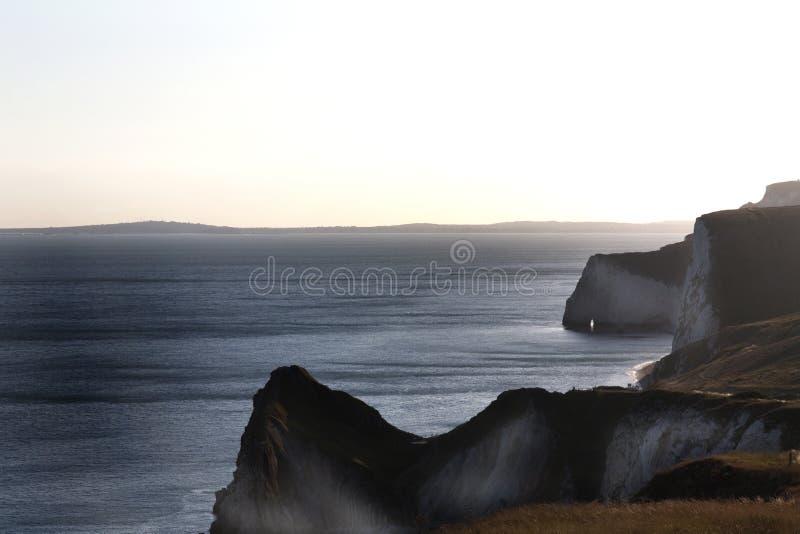 Weiße Klippen Durdle-Tür im Süden von England stockfoto