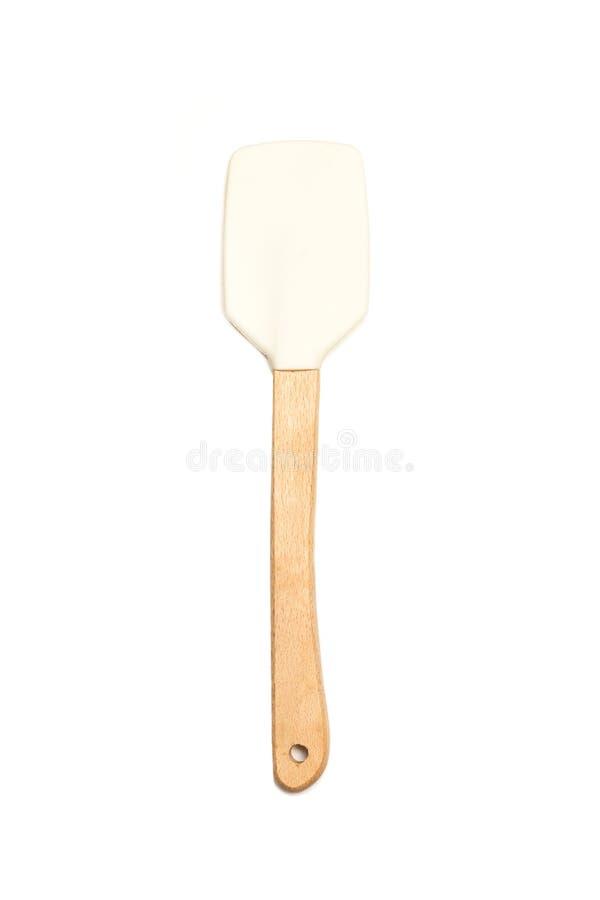 Weiße kochende Spachtel lizenzfreies stockbild