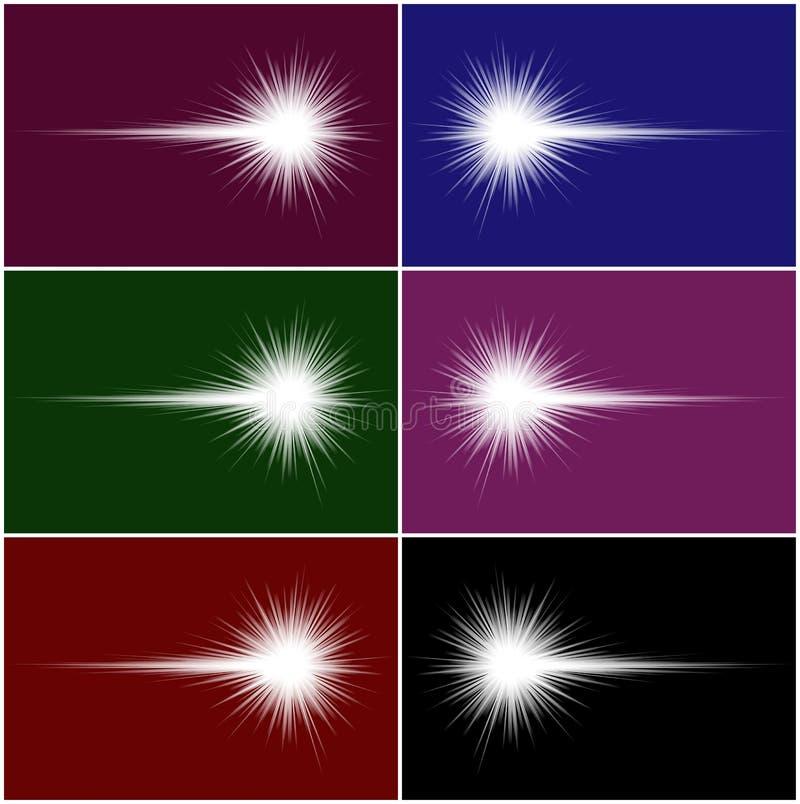 Weiße Kometen vektor abbildung