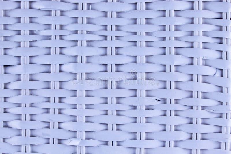 Weiße Korbbeschaffenheit in der Nahaufnahme lizenzfreies stockfoto