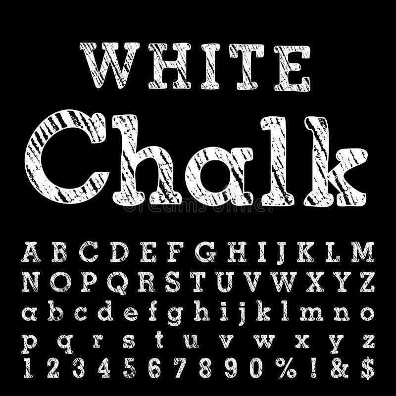 Weiße Kreide lizenzfreie abbildung