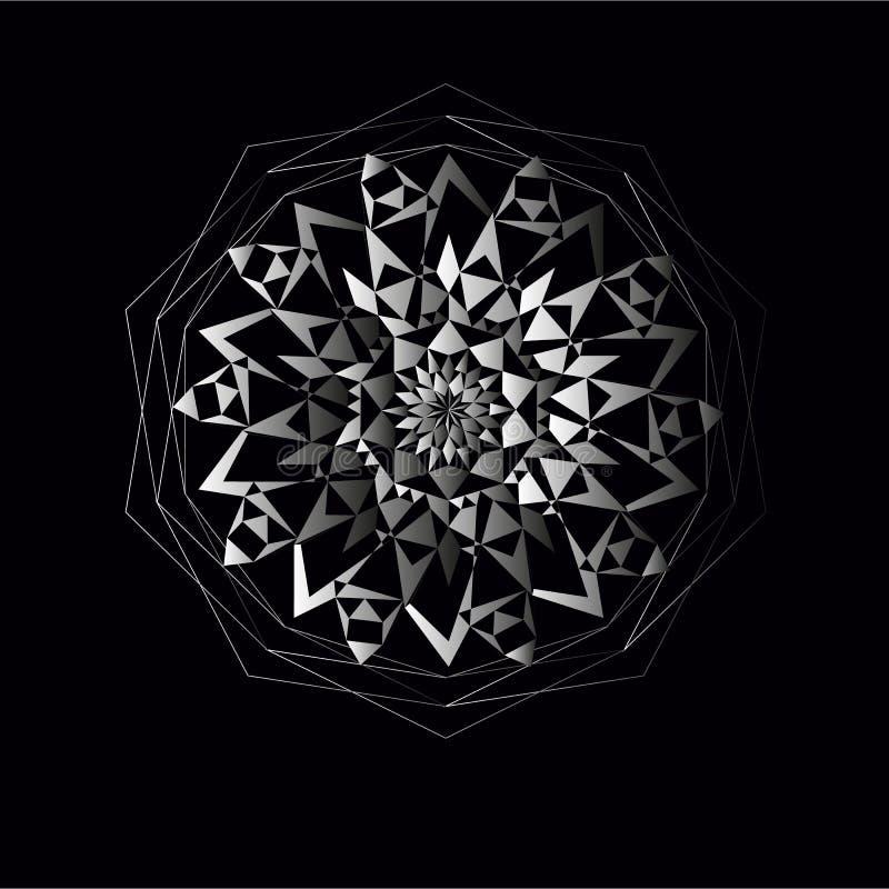 Weiße Kreisspitzeverzierung Vektorillustration, dekorativer Hintergrund lizenzfreie stockbilder