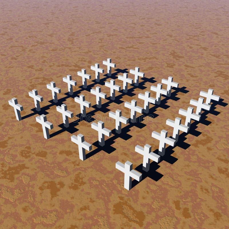 Weiße Kreuze lizenzfreie abbildung