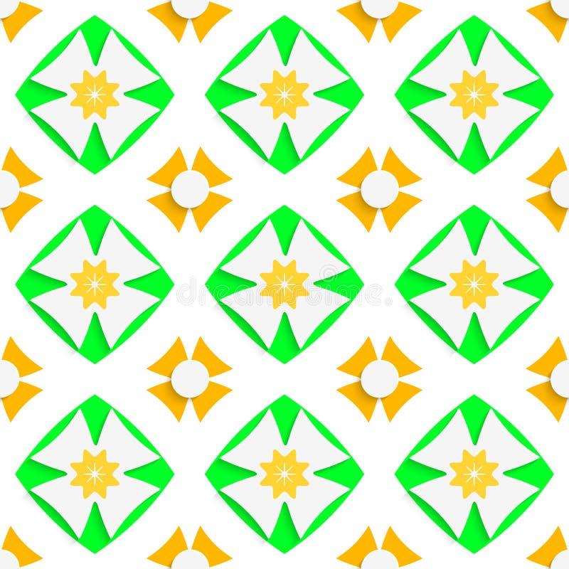 Weiße Kreuze und Grün und Orange vektor abbildung