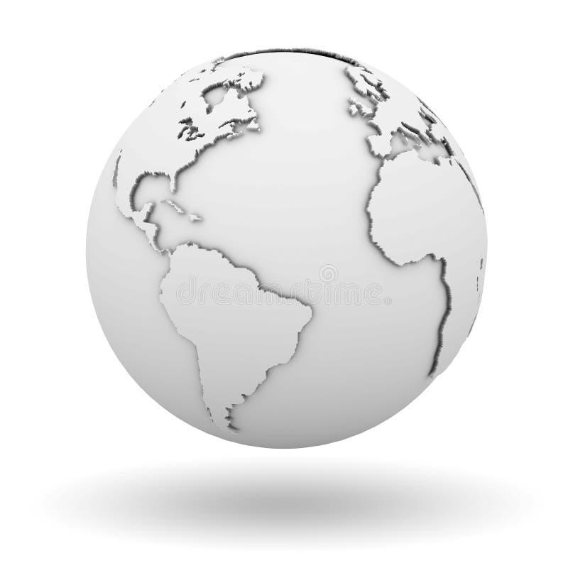 Weiße Kugel lizenzfreie abbildung
