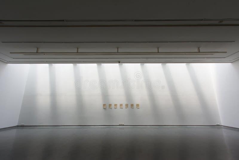 Weiße Kunstgalerie stockfoto
