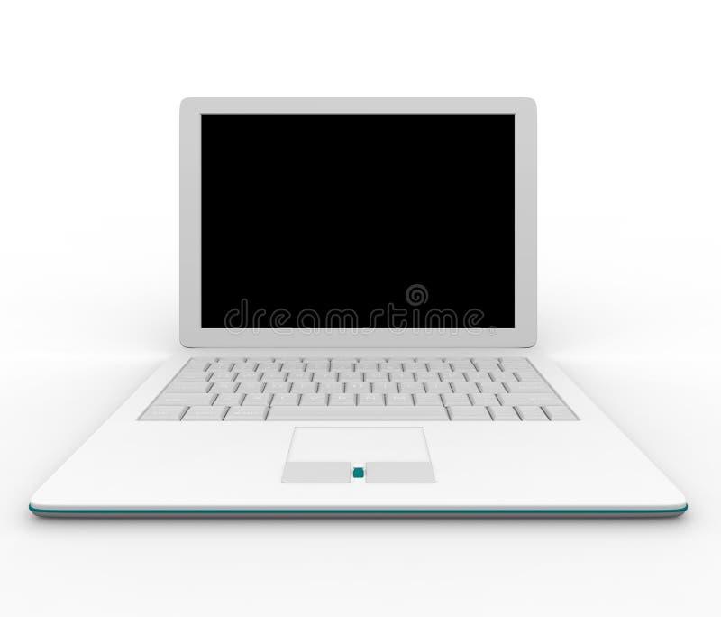Weiße Laptop-Computer lizenzfreie abbildung