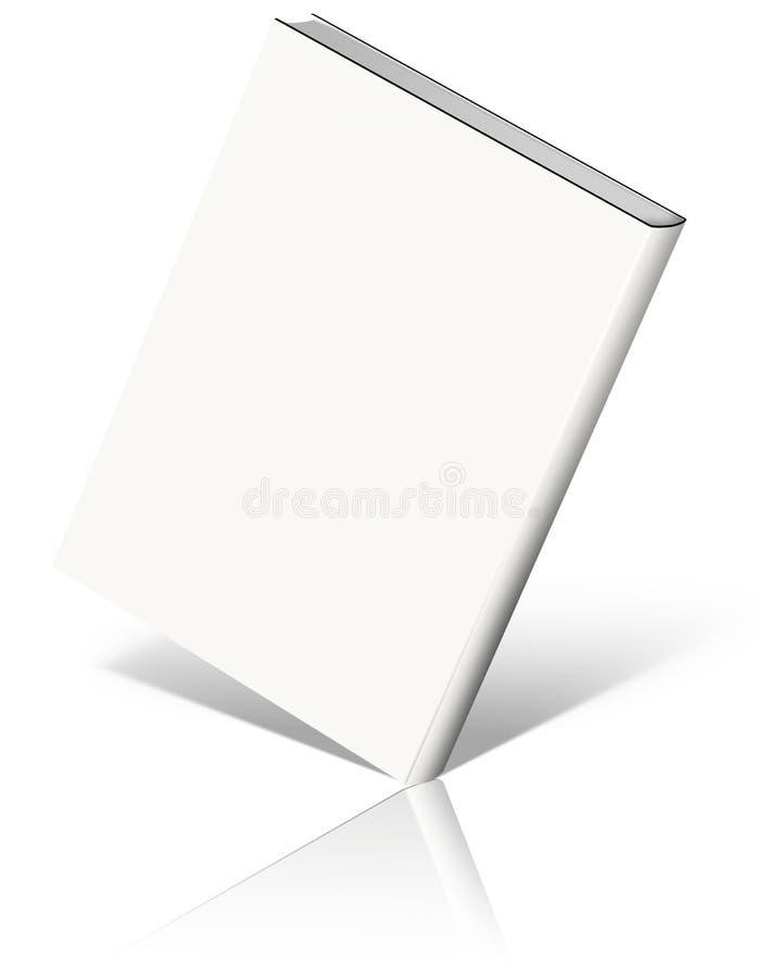 Weiße leere Buchschablone vektor abbildung