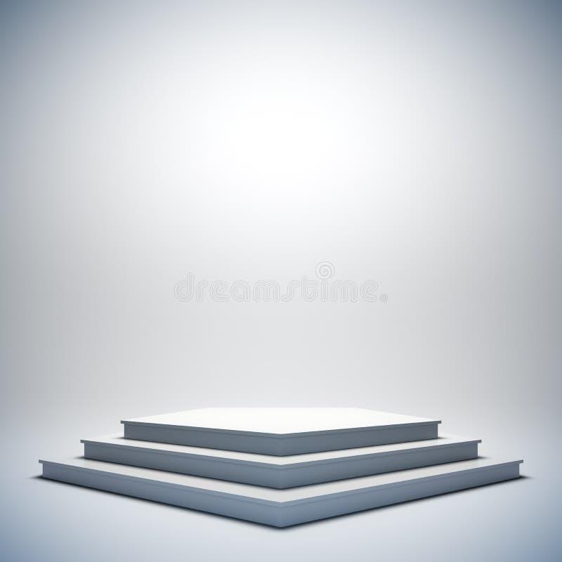 Weiße leere Stufe. vektor abbildung
