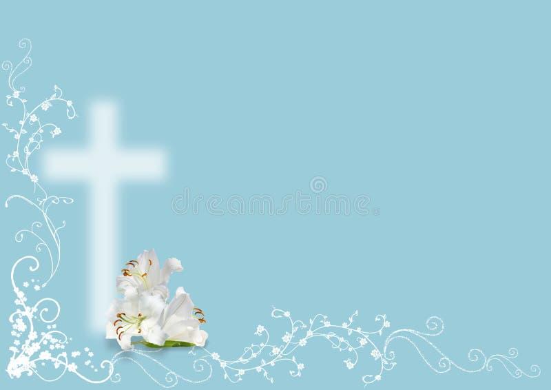 Weiße Lilie und Kreuz