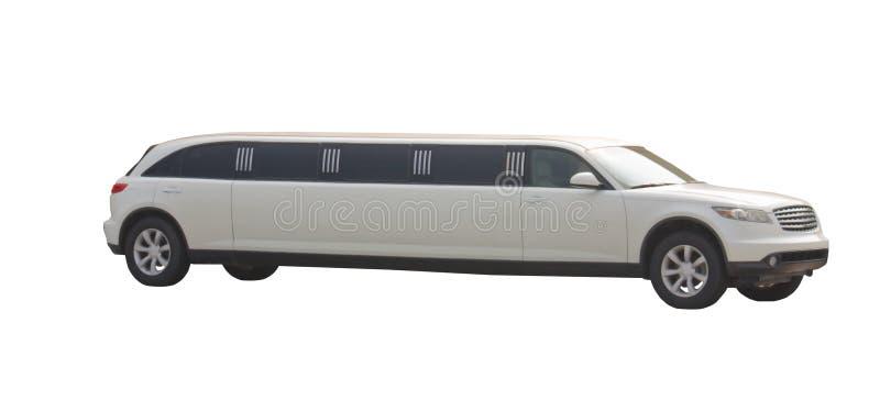 Weiße Limousine lizenzfreie stockbilder