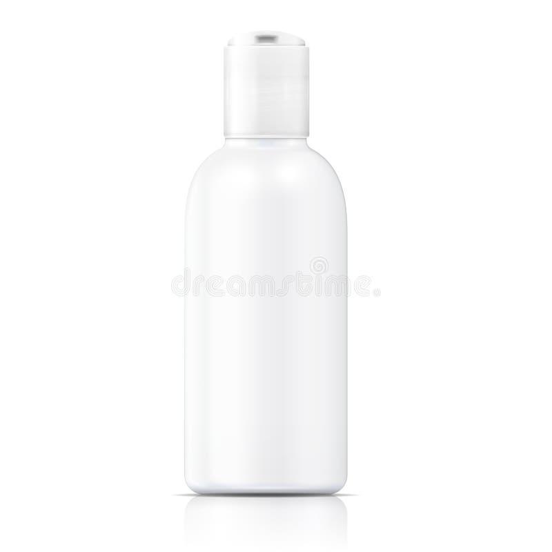 Weiße Lotionsflaschenschablone. vektor abbildung