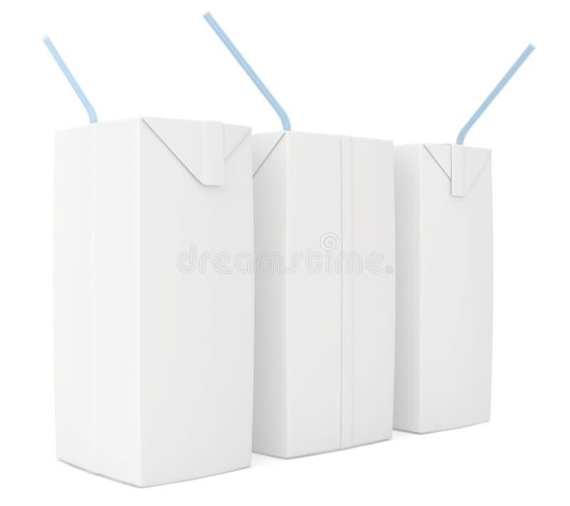 Weiße Milch oder Saft vektor abbildung